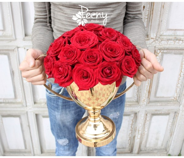 Flower cup gold 29 red naomi