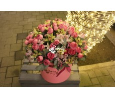 Mix flowers Large Box Pink